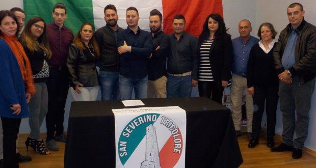 """Valter Bianchi assieme ai candidati consiglieri della lista """"San Severino Tricolore"""""""