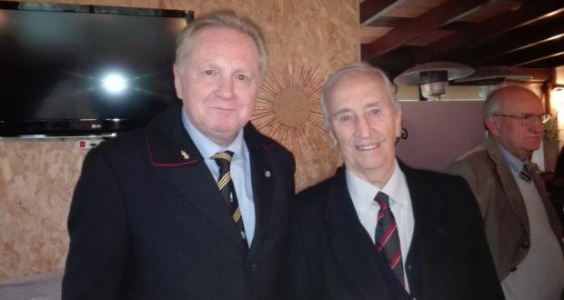 Fabrizio Grandinetti assieme al Generale Schipsi, presidente dell'Associazione nazionale Carristi