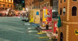 Le torri dei Castelli in Piazza del Popolo