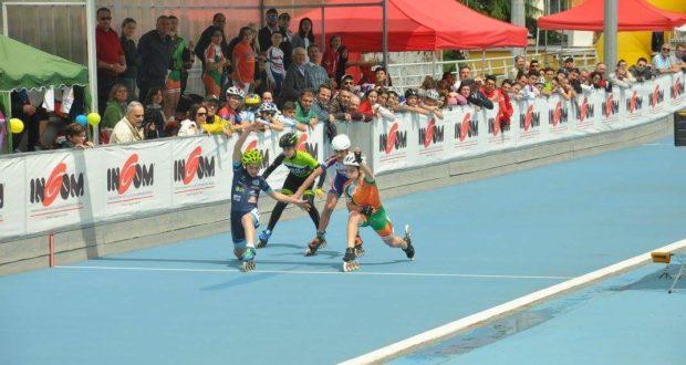 Il finale di una delle gare regionali svoltesi a San Severino