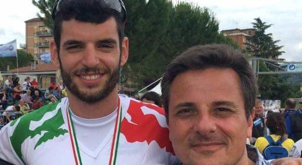 Andrea Angeletti con il presidente Renzo Bisonni