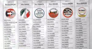 Manifesto elettorale con le 6 liste in corsa