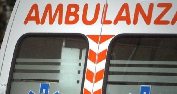 E' stato richiesto l'intervento di un'ambulanza