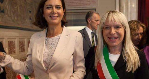 Il sindaco Rosa Piermattei con la Presidente della Camera, Laura Boldrini