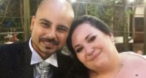 I novelli sposi Roberto e Sara