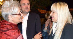 La professoressa Donella Bellabarba a colloquio con il sindaco Rosa Piermattei; con loro Daniele Salvi, Capo di Gabinetto della Presidenza del Consiglio regionale delle Marche