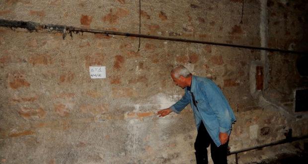 L'ing. Giorgetti nei sotterranei del Luzio