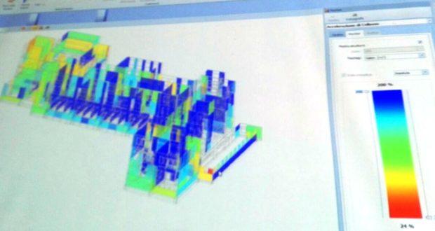 Una delle slide mostrate dall'ingegner Giorgetti