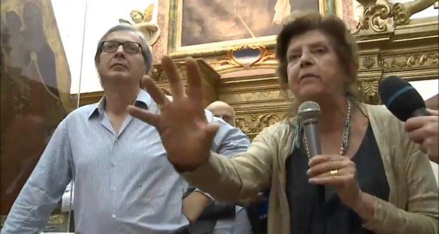 Liana Lippi e Vittorio Sgarbi
