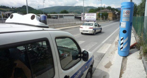 Polizia municipale in servizio