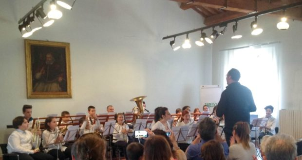 La Junior band in azione