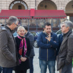 Errani in Piazza del Popolo assieme ai sindaci di San Severino e Matelica