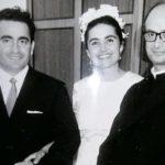 Eccoli, Anna Maria e Mariano, 50 anni fa assieme al parroco che li sposò, don Luigi