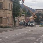 Un intervento al tetto lungo viale Settempeda