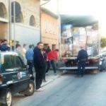 Il camion di aiuti giunto da Cattolica