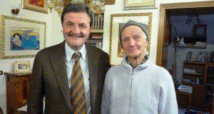 Mariano Pizzi in un incontro con l'allora sindaco Cesare Martini