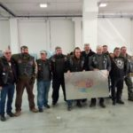 Un gruppo di bikers con gli amici di San Severino