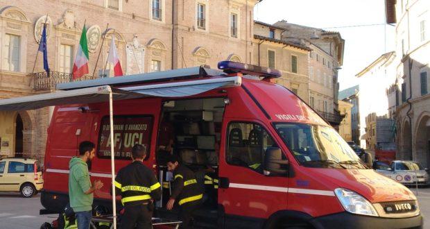 Presidio dei vigili del fuoco in piazza