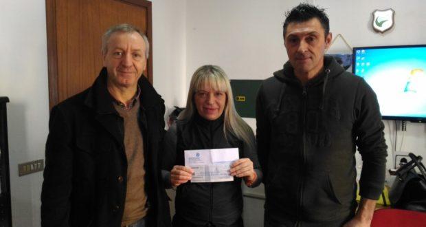 Giuseppe Pettinari assieme al sindaco Rosa Piermattei e all'assessore comunale Paolo Paoloni