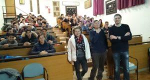 Un momento degli incontri con gli studenti dell'Itis