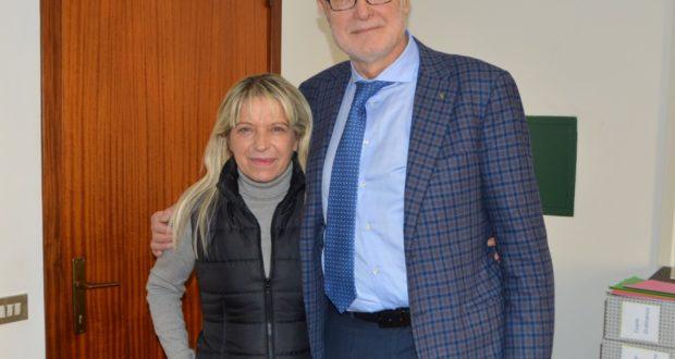 Il sindaco con il dottor Stronati