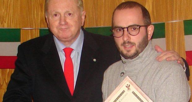 Fabrizio Grandinetti assieme a Jacopo Orlandani, che pure sarà nominato socio onorario
