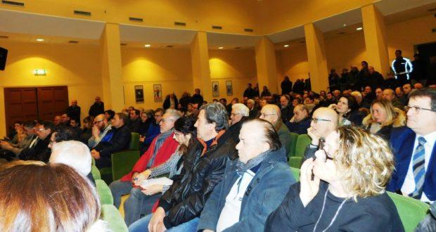 Platea della sala Italia gremita per il convegno sul post terremoto