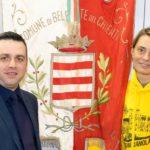 La Cacciatori con il sindaco di Belforte
