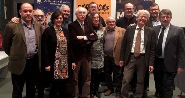 Loredana Agrifoglio (al centro) con il presidente Brasili e gli altri eletti