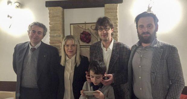Il presidente Nardi con il sindaco Piermattei e l'imprenditore Grandinetti