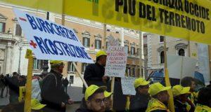 Un momento della protesta a Roma della Coldiretti