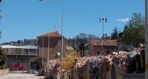 Palazzine demolite in via Raffaello Sanzio