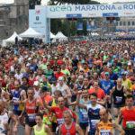La partenza della Maratona di Roma
