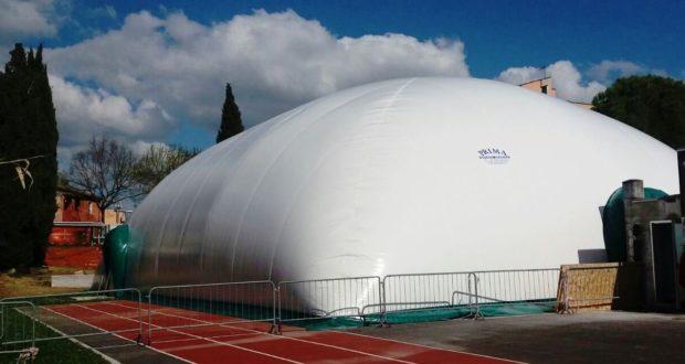 Il pallone pressostatico alla Scuola Media