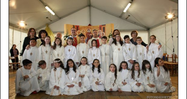 I bambini della Prima Comunione (foto Simonetti)