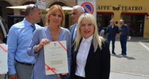L'on. Alessandra Mussolini con il sindaco Rosa Piermattei