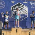 Il presidente Mario Eugeni premia i protagonisti del Challenge Yamaha