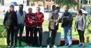 Il presidente Renzo Bisonni alla manifestazione di Ferrara
