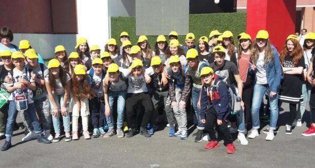 Gli alunni al Foto italico di Roma