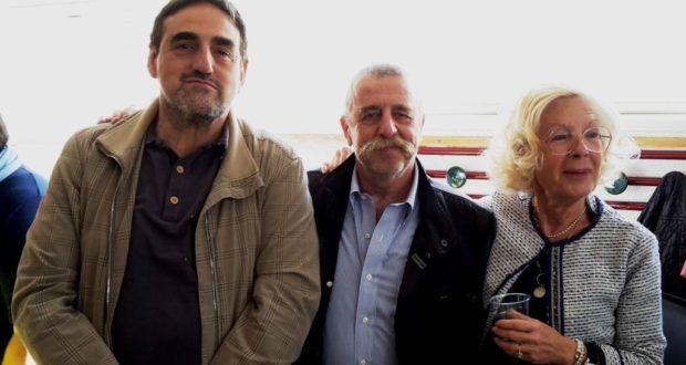 Enrico Perticarari con il preside Luciani e l'assessore Bianconi