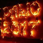La tradizionale scritta del Palio