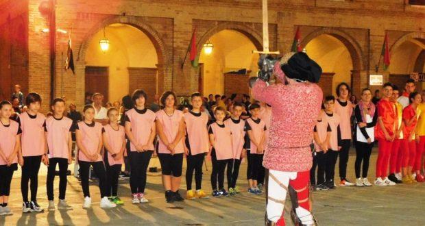 Giuramento di lealtà dei piccoli atleti in Piazza del Popolo (foto d'archivio)