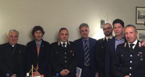 Il presidente Nardi con il Maggiore Grasso e gli altri ospiti dell'iniziativa