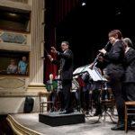 Il maestro Vanni Belfiore sul palco del Feronia
