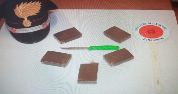 La droga sequestrata a San Severino