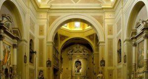 L'interno della chiesa di San Rocco