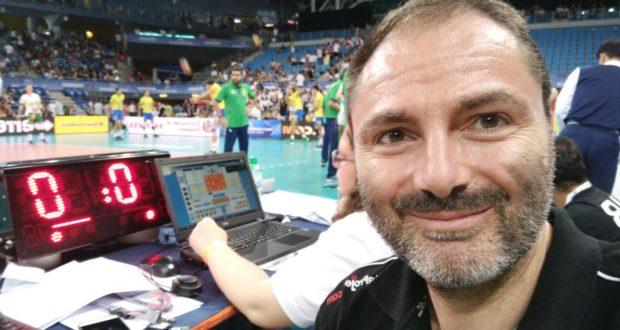 Roberto Taddei durante il week end di World League maschile a Pesaro (match Italia-Brasile)