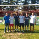 Tecnici di Settempeda e Inter assieme ad Andrea Cruciani, responsabile del settore giovanile biancorosso