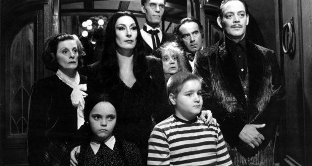 La storica famiglia Addams della serie tv