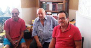 I rappresentanti del Comitato: da sinistra Chirielli, Bassano e Massei